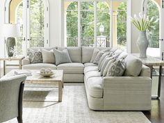 LAUREL CANYON Halandale Three Piece Sectional Sofa with Toss Pillows by Lexington at Baer's Furniture