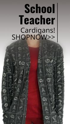 School Teacher Theme Cardigan sweaters! sponsored