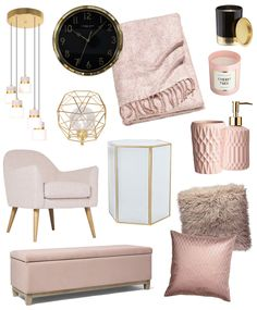 Blush pink and gold home style
