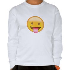 Face With Stuck Out Tongue Emoji T Shirts