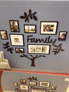 Family photo display idea