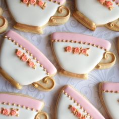 Teacup cookies for a birthday!