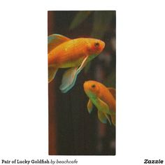 Pair of Lucky Goldfish Wood Flash Drive