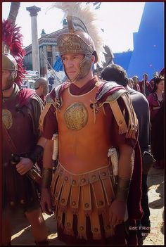 "The beautiful & charismatic James Purefoy as ""Marc Antony"" in ROME (HBO Ancient Rome, Ancient Greece, Ancient History, Rome Costume, Rome Hbo, Rome Tv Series, Roman Armor, James Purefoy, Roman Legion"
