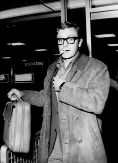 Michael Caine at the airport, c. 1960s.