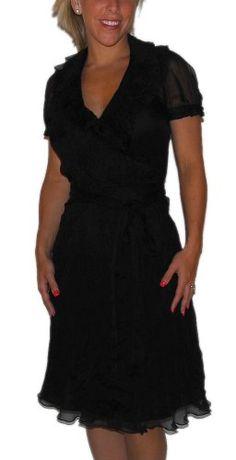 Ralph Lauren Rugby Womens Silk Cocktail Beach Resort Shower Black Dress