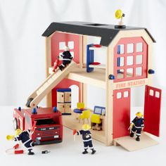 The Land of Nod | Kids' Imaginary Play: Kids Toy Firehouse Collection Set in All Toys