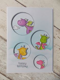 my favourite things- magical dragons (stamps & dies)    SU!- made for you    mama elephant- landscape trio dies (before starting thi...