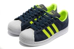 Adidas Superstar Shoes Green White Blue (Done) Adidas Boost, Jordan Shoes, Zapatillas Adidas Superstar, Tn Nike, Air Max Classic, Nike Air Max 2012, Superstars Shoes, Fashion Sandals, Adidas Stan Smith