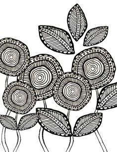 Flower Coloring Pages Download