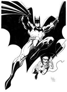 Art Adams - Batman and Robin Illustration Comic Art