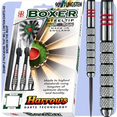 Harrows Boxer Darts - Steel Tip Tungsten - Made in England - (Knurled) - 29gK - http://www.dartscorner.co.uk/product_info.php?cPath=9_118_129&products_id=5699