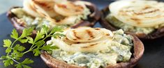 What's better than mushrooms filled with blue cheese? Vidalia onion-topped mushrooms filled with blue cheese, of course.