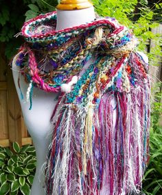 Hey, I found this really awesome Etsy listing at https://www.etsy.com/listing/175196760/samba-hand-knit-scarf-turquoise-multi