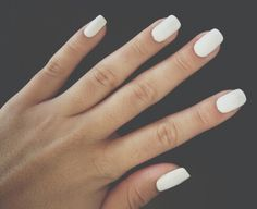 Really like white nails at the moment, wish I could paint mine!