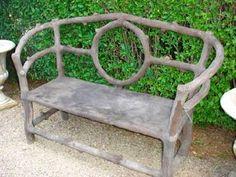 Faux Bois Concrete Bench (Mecox Gardens)  Designed by Colvin and Hastings Designs.   #Faux Bois #Google Faux Bois Furniture