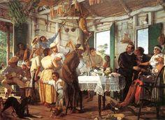"""""""El velorio"""" (circa 1893) óleo sobre tela de Francisco Oller. Colección del Museo de Historia, Antropología y Arte de la Universidad de Puerto Rico."""