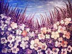 """""""Nostalgy"""" Original, heavy textured, palette knife, thick impasto painting on canvas by Elena Hajda. 30in x 40in"""