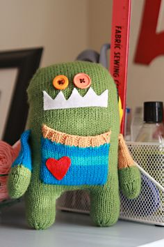 Knit Monster patterns for children on need