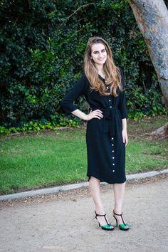 Shirt Dress, Black