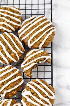 These vegan gluten-free iced oatmeal cookies are healthy, oil-free, low-fat and yet so delicious. They are super soft, moist and made with sunbutter and sweet potato! via @thevegan8