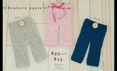 Crocheted pants for babies