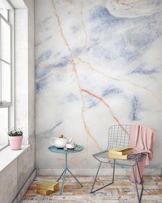 Murals-Wallpaper-Marble-9-Blue-and-Bronze-Print