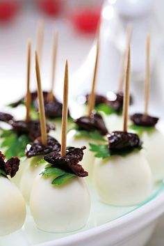 Gold and White Wedding. Buffet Dinner, Late Night Snack, Appetizer. Mozzarella Olive Bites
