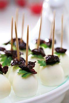 Mozzarella & Oliven Häppchen