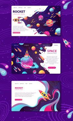 Landing Pages Illustration - - Game Design, Design Sites, Graphisches Design, Book Design, Layout Design, Design Logo, Web Design Trends, Print Layout, Graphic Design Brochure