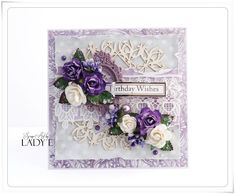 Scrap Art by Lady E: Happy Birthday Card and Video Tutorial Wild Orchid Crafts DT