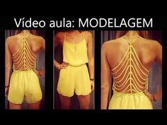 Caroline Oliveira shared a video Long Jumpers, Jumpers For Women, Beachwear, Swimwear, Diy Dress, Overalls, Shorts, Apparel Design, Sewing Tutorials