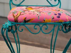 JUNK GYPSY Trash-to-Treasure Projects \ painted garden chair | Junk Gypsies | GAC #turquoise #paintedfurniture
