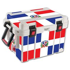 MightySkins Protective Vinyl Skin Decal for Pelican 45 qt Cooler wrap cover sticker skins Dominican Flag ** You can find more details by visiting the image link. #CoolersandAccessories