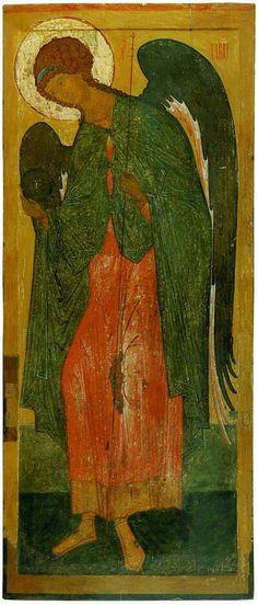 Arcangelo Gabriele. Fine XV-inizi XVI secolo. Da un registro di Deesis. Scuola di Rostov.