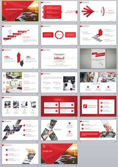 Business infographic : 20 Red Simple Slide PowerPoint templates on Behance Create Powerpoint Template, Powerpoint Tutorial, Professional Powerpoint Templates, Business Powerpoint Templates, Keynote Template, Creative Powerpoint, Presentation Software, Presentation Layout, Business Presentation