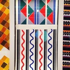 #wallpaperwednesday not a wallpaper, but fabric by Sonia Delaunay exhibition at Tate Modern #simultane