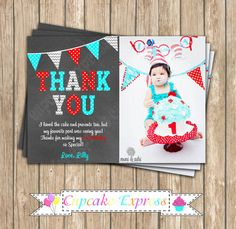 Dr. Seuss Inspired  PRINTABLE Thank You Card  by CupcakeExpress photo thank you card little man mustache   thing 1 thing 2 aqua blue red