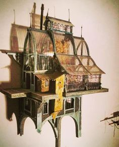 Architecture Drawing Art, Architectural Sculpture, Cardboard Art, Cute House, Wooden Art, Animal House, Tabletop Games, Diy Dollhouse, Beautiful Buildings