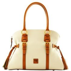 Dooney and Bourke Florentine Domed Buckle Satchel Handbags On Sale, Luxury Handbags, Tote Handbags, Purses And Handbags, Leather Handbags, Spring Handbags, Black Handbags, Saddle Leather, Fashion Bags
