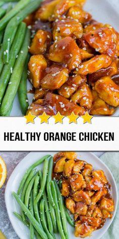 Skip the takeout & make this Healthy Orange Chicken Recipe for dinner! Paleo, gluten free + delicious – it's one of the best healthy chicken recipes! easy 3 ingredients easy for a crowd easy healthy easy party easy quick easy simple Yummy Chicken Recipes, Yum Yum Chicken, Easy Healthy Recipes, Asian Recipes, Healthy Orange Chicken, Carne, Clean Eating, Dinner Recipes, Gastronomia