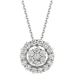 Morris & David Diamond and 14k White Gold Openwork Pendant Necklace ($1,098) ❤ liked on Polyvore featuring jewelry, necklaces, white gold, 14k necklace, diamond necklace, 14 karat gold necklace, diamond stud necklace and white gold diamond necklace