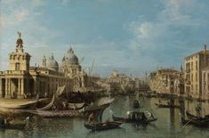 Bernardo Bellotto (Venice 1721-1780 Warsaw), Venice: The Entrance to the Grand Canal; and The Grand Canal from the Ca' da Mosto to the Fabbriche Nuove, with the Rialto Bridge; oil on canvas, 24 1/8 x 36 3/8 in. (61.2 x 92.4 cm.), (2) a pair