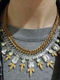 LLD Jewellery Spring Brown Tan Cream Nude Stone Collar Necklace Celeb Blog