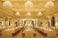 nice ballroom set up