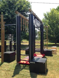 Patio 46 Modern Monkey Bars For Backyard Ideas Hd . Backyard Gym, Backyard Obstacle Course, Backyard Playground, Backyard For Kids, Backyard Ideas, Parkour, Outdoor Gym, Indoor Outdoor, Ninja Warrior Course