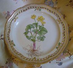 """Royal Copenhagen,Flora Danica,Pierced 10 1/8 """"Dinner Plate"""