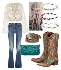 """""""Bohemian Rodeo"""" by goycotwo ❤ liked on Polyvore featuring M.i.h Jeans, Capelli New York, Stone_Cold_Fox, Mudd, Lane, Ariat and Mar y Sol"""