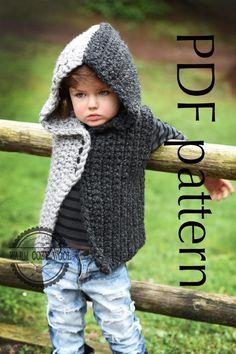 (4) Name: 'Crocheting : CROCHET pattern---'SAVVA' hooded vest
