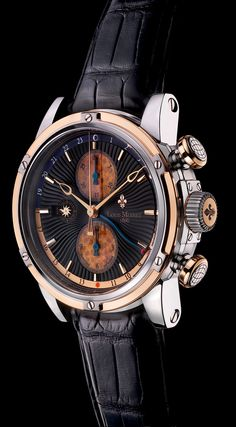 Geograph Rainforest chronograph with genuine fossilized palm wood believed to be 70 million years old